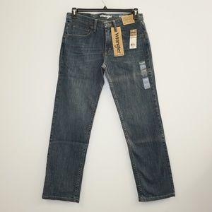 Wrangler Slim Straight Blue Denim Jeans 31 x 32